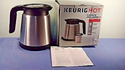 Keurig 2.0 Stainless Steel Silver/Black Insulated Thermal Carafe