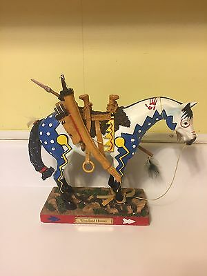 Trail Of Painted Ponies Woodland Hunter Native American Horse Figurine Statue LE