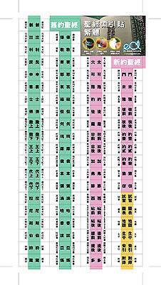 Removable Bible Index Tabs (Traditional Chinese)