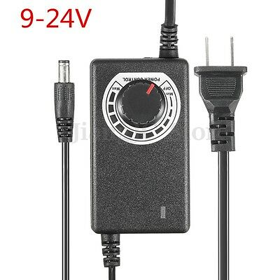 AC/DC Adjustable Power Adapter Supply 9-24V 1A 24W Speed Control Volt Display