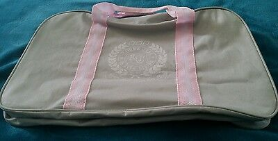 LORNA JANE Gym Fitness Active Yoga Bag Canvas Grey Pink