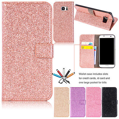 For Samsung S8 + S7 Edge Luxury Wallet Case Flip Card Holder Stand Leather Cover
