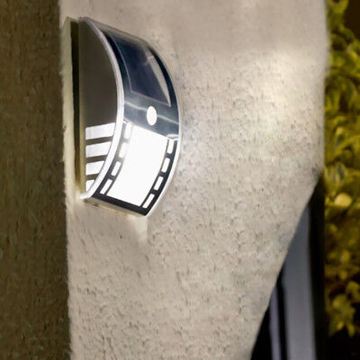 Wall Light PIR Motion Sensor Garden Lighting Garden Security Solar White