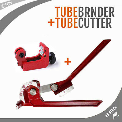 "3 in 1 Tube Pipe Bender 1/4"" 5/16"" 3/8"" 6mm 8mm 10mm & Mini Tube Cutter 3-22mm"