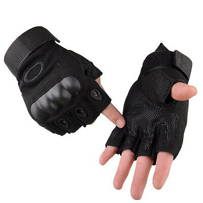 Military Tactical Outdoor Fingerless Motorcycle Hard Knuckle Half Finger Gloves