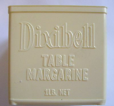 Vintage Dixiebell 1lb empty plastic margarine container.Made in Australia.