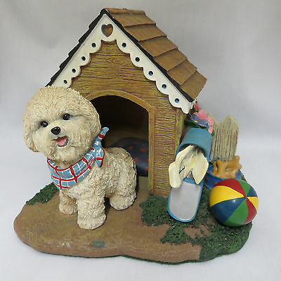 Bichon Home Sweet Home Dog House Sculpture Figurine Statue Danbury Mint