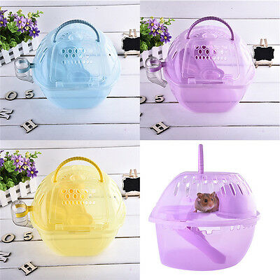 Transparent Pet Hamster Mouse Cage plastic Tank cage Small Animal Home Play Cage