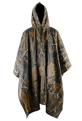 Jungle Camouflage Military Waterproof Adult Rain Coat Poncho Campingn Hiking Out