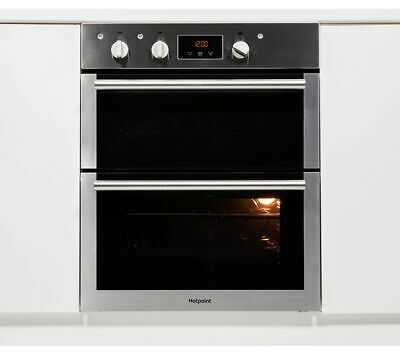 HOTPOINT DU4 541 IX Electric Built-under Double Oven Black & Stainless Steel