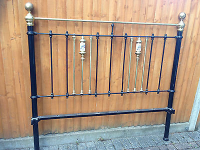 Antique cast iron and brass kingsize bed