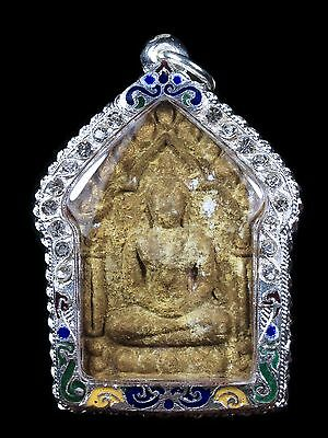 Thai amulet Pra Khun Phan Magic Powder Embed 9 Takrut Silver LP.TIM amulets