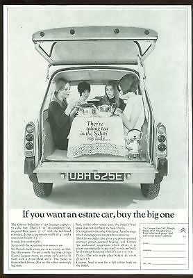 Citroen Safari B/w Magazine Advert