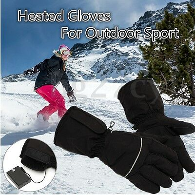 HOT Heated Gloves Battery Powered Motorcycle Hunting Winter Warmer Hot Outdoor A