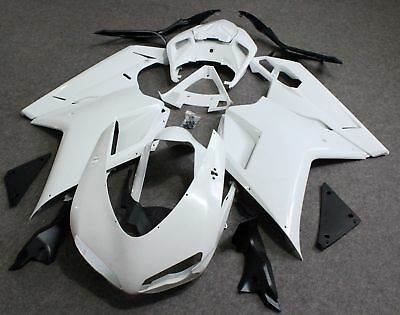 Unpainted Drilled ABS Bodywork Fairing for Ducati 848 1098 1198 07-11 2008 2009