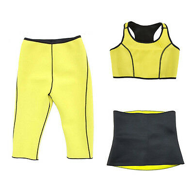 Sports Women Hot Neoprene Body Shaper Slimming Waist Slim Belt Yoga Vest Suit