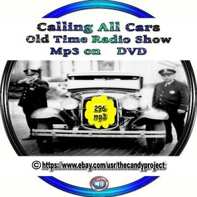 Calling All Cars Old Time Radio Police Drama First Police Audio on Radio MP3 DVD