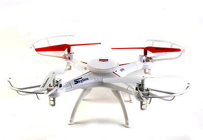 Drone Radiocomandato 32Cm Con Hd Video Camera 5 Canali + Giroscopio Bianco