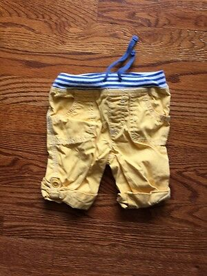 Mini Boden Baby Boys Roll Up Pants Shorts 6-12 Months