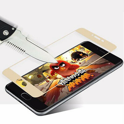 Gold Genuine Tempered Glass Screen Protector Full Cover For Various Phones