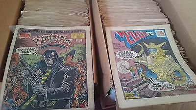 LARGE COLLECTION 2000AD ft JUDGE DREDD COMICS 1979-87