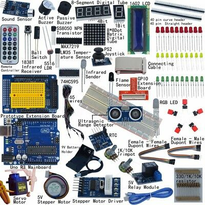 Ultimate UNO R3 Starter Learning Kit For Arduino LCD1602 Servo Motor Procesing