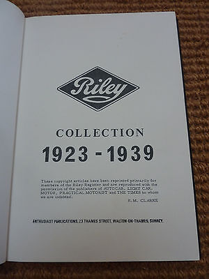 Riley Cars collection 1923-1939 hardback
