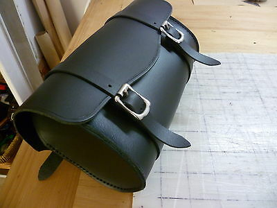 Motorcycle front forks vintage style handmade leather tool bag Australian made.