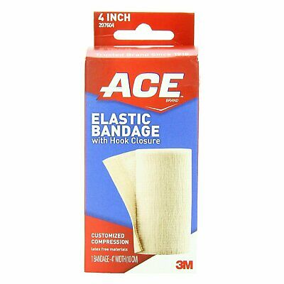 Ace Elastic Bandage With Hook Closure, 4 Inches - 1 Count
