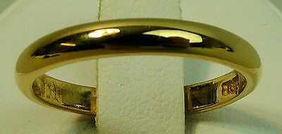 Fine Vintage 22 K Gold Wedding Ring Size Q  London 1950 - 4.5 Grams