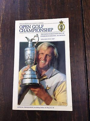 1987 Open Golf Championship Match Official Pogramme