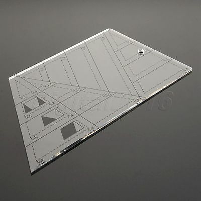 Trapezoid Triangle Diamond Sewing Patchwork Ruler Scale Edge Tailor Craft Tool