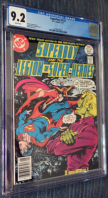 Superboy #227 CGC 9.2 White Pages Legion of Super-Heroes! Pulsar Stargrave!