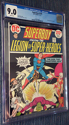 Superboy #199 CGC 9.0 White Pages Legion of Super-Heroes Bouncing Boy! Cockrum!