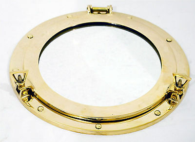 "12"" Brass Porthole Window Oval ~ Porthole Glass ~ Ship Porthole ~ Nautical Decor"