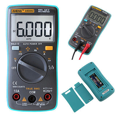 Digital LCD Multimeter Backlight AC Auto Range Ohm Ammeter Temperature Tester ##