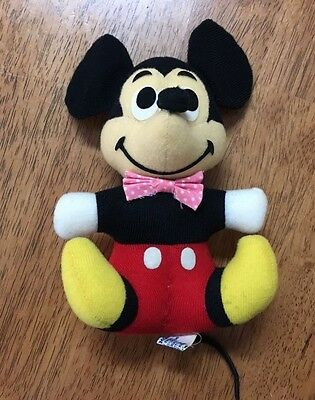 MICKEY MOUSE DOLL Walt Disney Favorites 1980's replica of vintage 50's Style