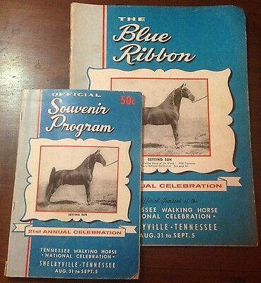The Blue Ribbon Tennessee Walking Horse Yearbook and Program 21nd Edition (1959)