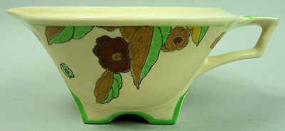 Royal Doulton Art Deco Pottery Gravy/sauce Boat Peach Pattern C.1934