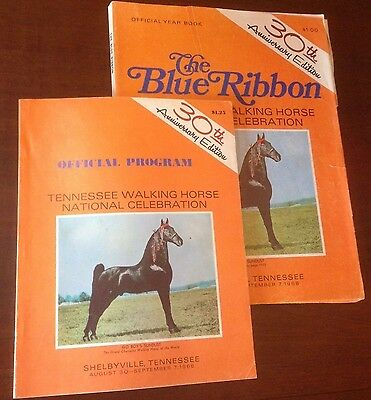 The Blue Ribbon Tennessee Walking Horse Yearbook and program 30th Edition (1968)