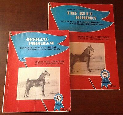 The Blue Ribbon Tennessee Walking Horse Yearbook and program 29th Edition (1967)