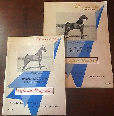 The Blue Ribbon Tennessee Walking Horse Yearbook and program 28th Edition (1966)