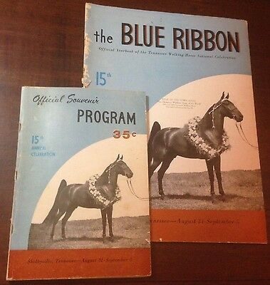 The Blue Ribbon Tennessee Walking Horse Yearbook and Program 15th Edition (1953)