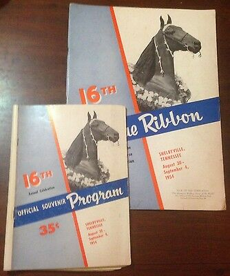 The Blue Ribbon Tennessee Walking Horse Yearbook and Program 16th Edition (1954)