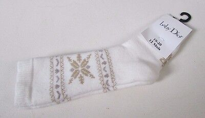 Baby Dior Cotton Socks Age 12 Months Authentic Made In France