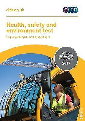 Health,Safety & Environment Test for Operatives & Specialists 2017 DVD CSCS NEW