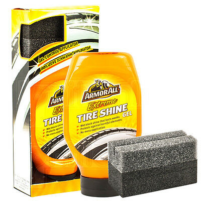 ArmorAll Extreme Tire Tyre Wet Shine Gel & Applicator Protect Fading Cracking