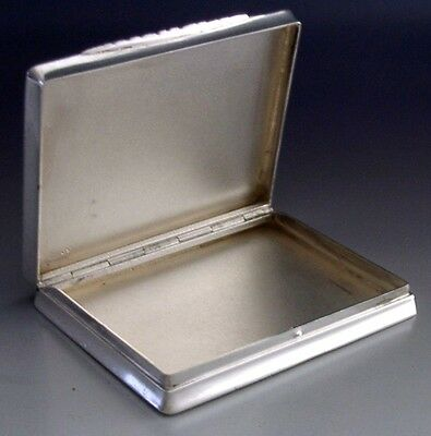 SUPERB QUALITY AUSTRIAN SOLID SILVER ENGINE TURNED BOX c1910 ANTIQUE 96g