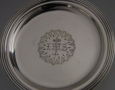Quality Victorian Sterling Silver Communion Paten 1886 Antique