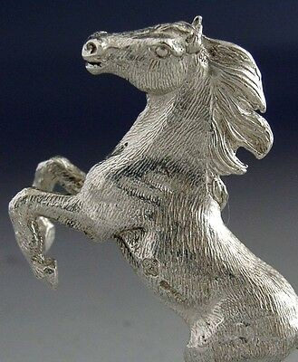 Superb Solid Sterling Silver Cast Horse Figure 2001 Hunting Riding